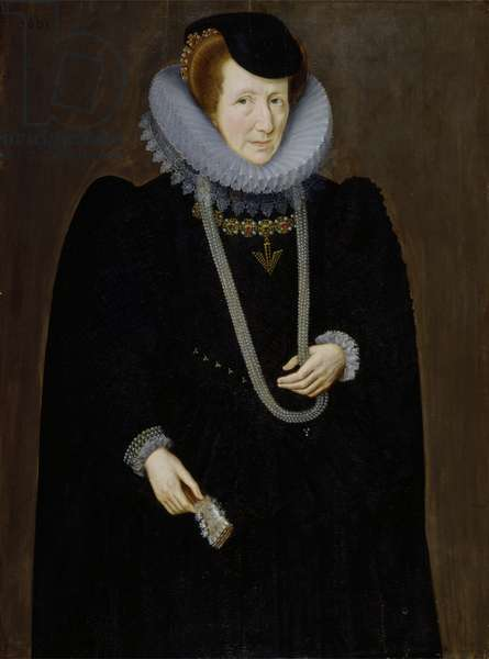Portrait of a Woman, probably Eleanor Packington, Lady Scudamore, 1601 (oil on panel)
