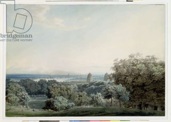 London from Greenwich Hill, c.1791 (w/c, black ink and wash over graphite on wove paper)