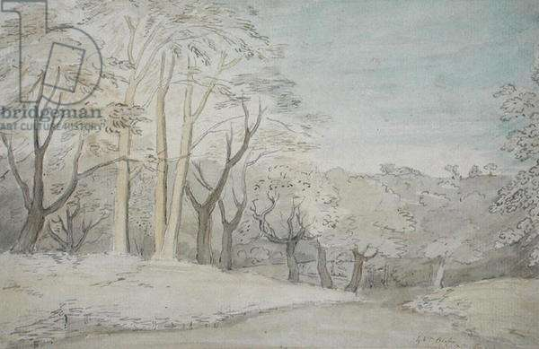 A Woody Landscape, c.1801 (w/c and graphite on paper)