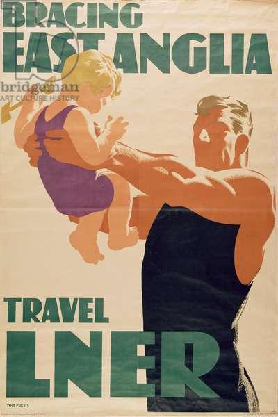 Bracing East Anglia, Travel LNER (colour litho)