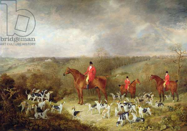 Lord Glamis and his Staghounds, 1823 (oil on canvas)