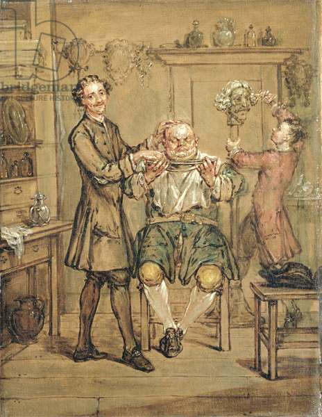 The Barber, c.1760-69 (oil on canvas)