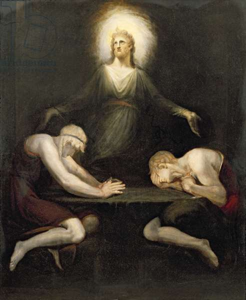 The Appearance of Christ at Emmaus, 1792 (oil on canvas)