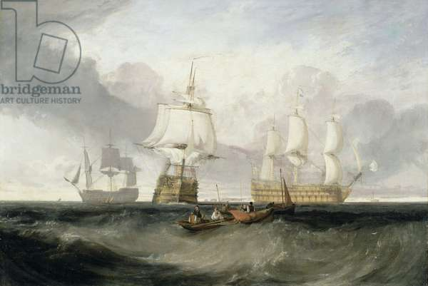 The 'Victory' Returning from Trafalgar, 1806 (oil on canvas)