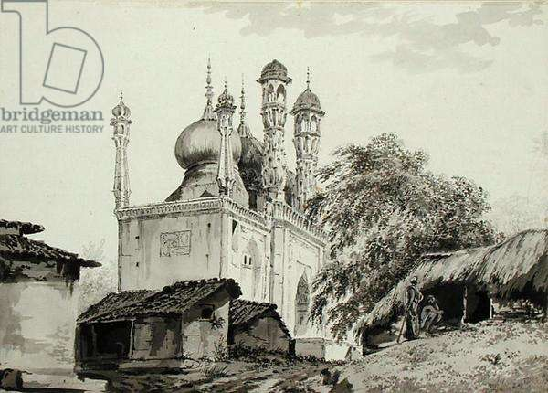 A Mosque at Gazipoor, c.1781 (pencil, pen, ink and wash on paper)