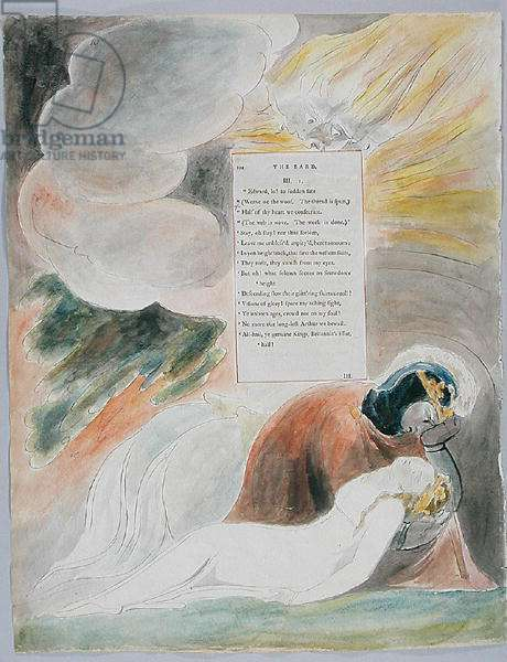 The Bard, design 62 from 'The Poems of Thomas Gray', 1797-98 (w/c with pen and ink on paper)