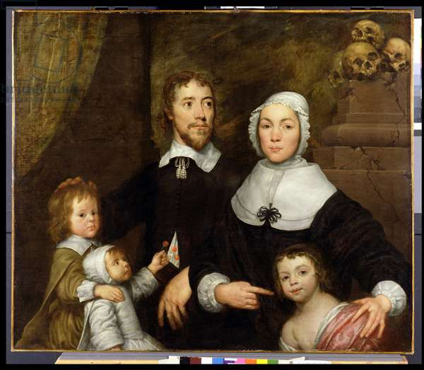 Portrait of a Family, Probably that of Richard Streatfeild, c.1645 (oil on canvas)
