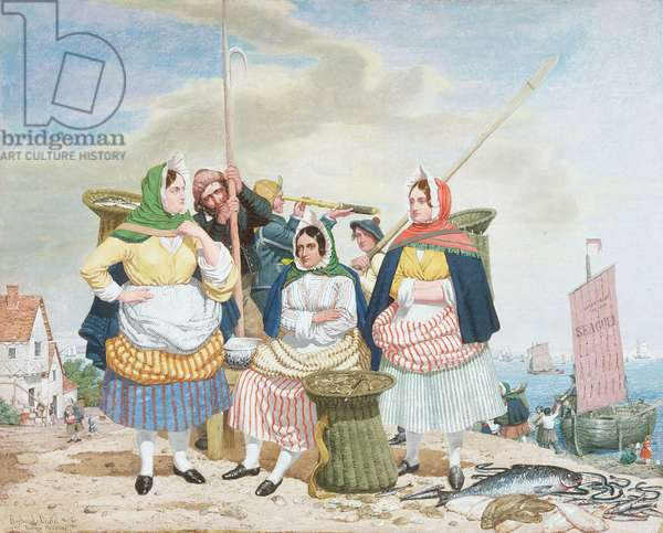Fish Market by the Sea, c.1860 (oil on canvas)