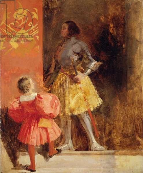 A Knight and Page, c.1826 (oil on canvas)