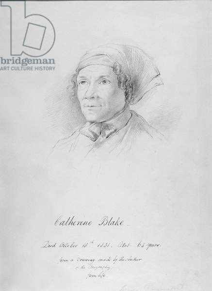 Portrait of Catherine Blake (1762-1831) after a drawing by Frederick Tatham, c.1830 (pencil on paper)
