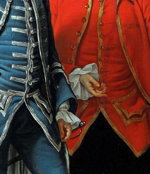 James Grant of Grant, John Mytton, the Honorable Thomas Robinson and Thomas Wynne, c.1760 (detail of 162478) (oil on canvas)