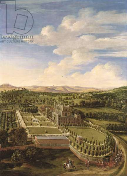 Wollaton Hall and Park, Nottingham, 1697 (oil on canvas)