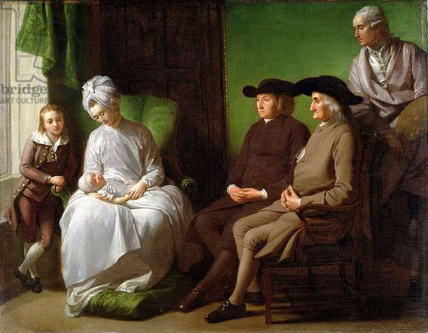 The Artist's Family (oil on canvas)