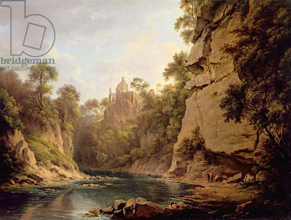 Hawthornden Castle, near Edinburgh, c.1820-22 (oil on canvas)
