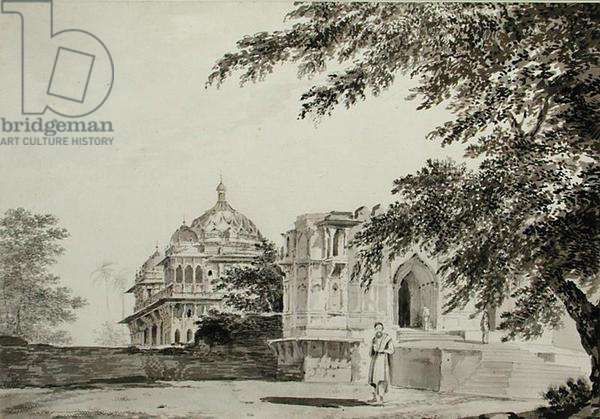 A view of the Mosque at Mounheer from the South East, c.1781 (pencil, pen, ink and wash on paper)