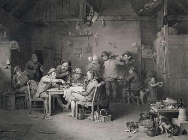 The Village Politicians, engraved by Abraham Raimbach (1784-1868), 1814 (engraving)