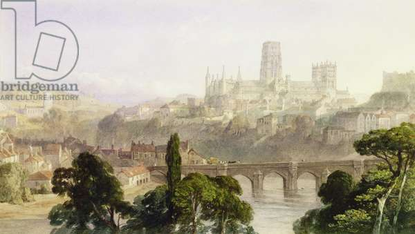 Durham Cathedral, 1846 (w/c with bodycolour over graphite on paper)