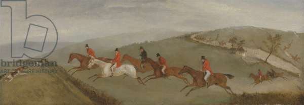 Foxhunting: The Few not Funkers (oil on canvas)