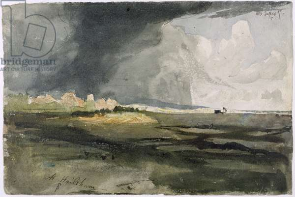 At Hailsham, Sussex: A Storm Approaching, 1821 (w/c over graphite on paper)