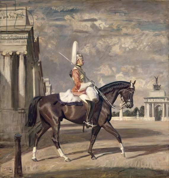 The Corporal of the Horse, c.1927 (oil on canvas)