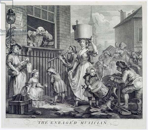 The Enraged Musician, 1741 (engraving)
