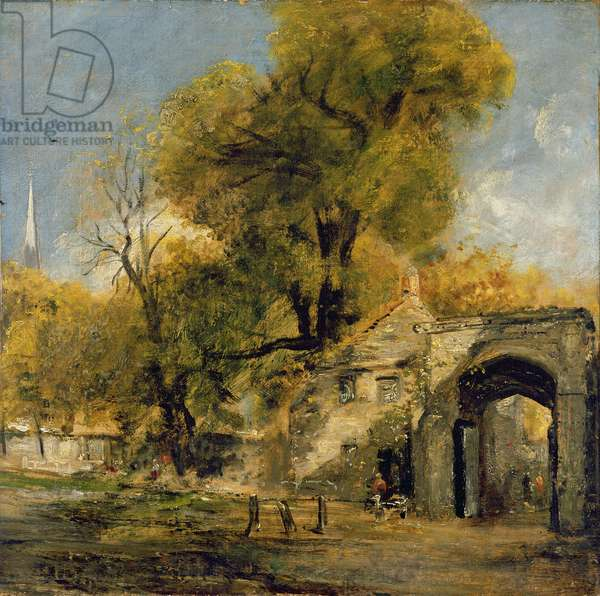 Harnham Gate, Salisbury, c.1820-21 (oil on canvas)