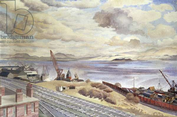 The Clyde from Port Glasgow, 1945 (oil on canvas)