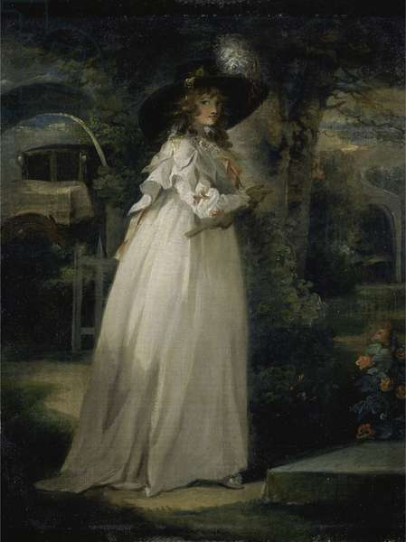 Portrait of a Girl in a Garden, c.1786-88 (oil on canvas)