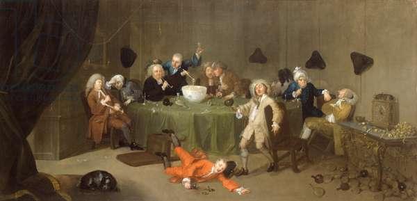 A Midnight Modern Conversation, c.1732 (oil on canvas)