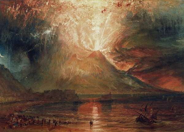 Mount Vesuvius in Eruption, 1817 (w/c on paper)