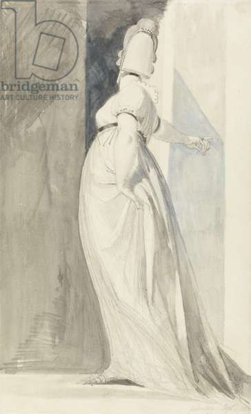 Back View of a Standing Female, called Mrs. Fuseli, 1810 (w/c & wash on paper)
