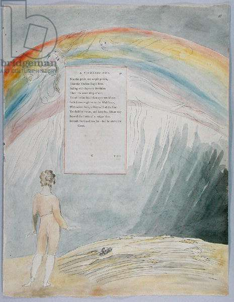'The Progress of Poesy', design 51 from 'The Poems of Thomas Gray', 1797-98 (w/c with pen & black ink on paper)