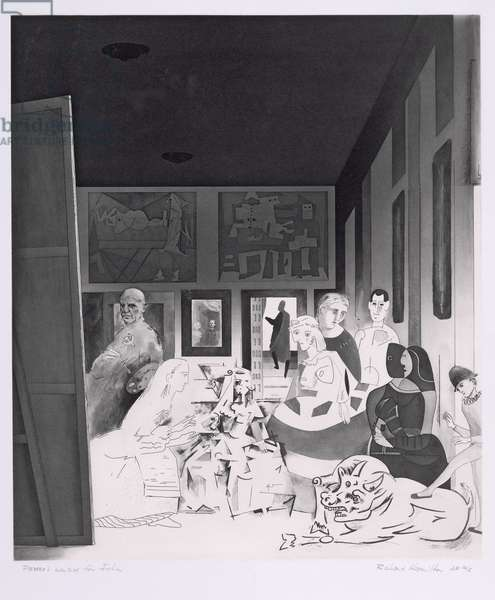 Picasso's Meninas (etching, engraving and aquatint)