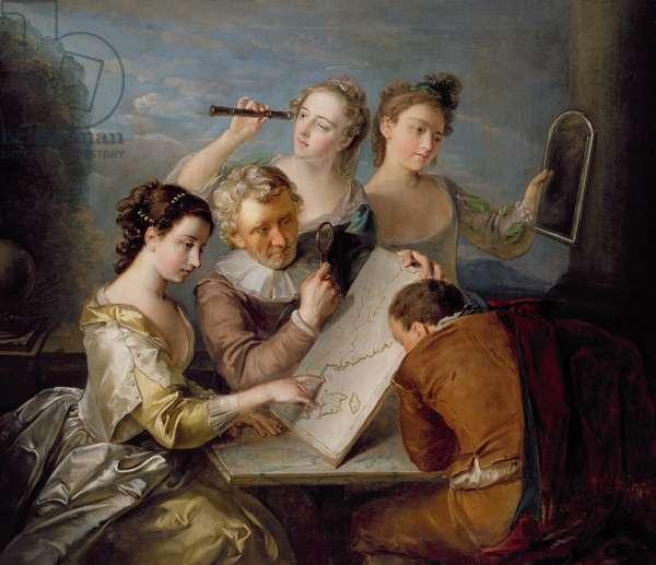 The Sense of Sight, c.1744-47 (oil on canvas)