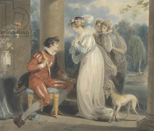 Rosebud, or the Judgement of Paris, 1791 (w/c and bodycolour over graphite on paper)