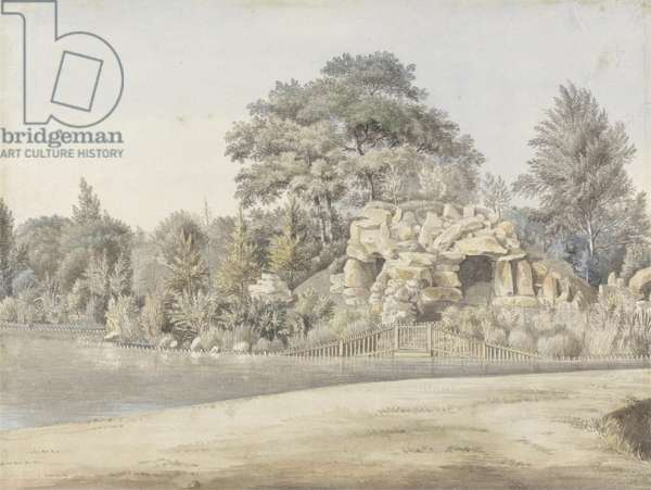 The Grotto, Virginia Water (w/c over ink and graphite laid on paper)