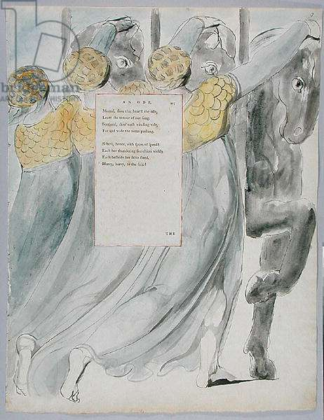 The Fatal Sisters, design 75 from 'The Poems of Thomas Gray', 1797-98 (w/c with pen & ink on paper)