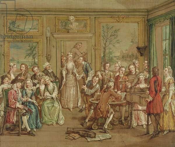 Musical Conversation, c.1760 (oil on canvas)