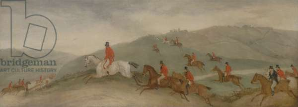Foxhunting: Road Riders or Funkers (oil on canvas)