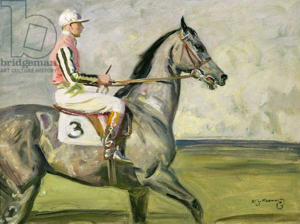 John Hay Whitney's Royal Minstrel, with Joe Childs Up, Winner of the Eclipse Stakes, c.1929 (oil on canvas)