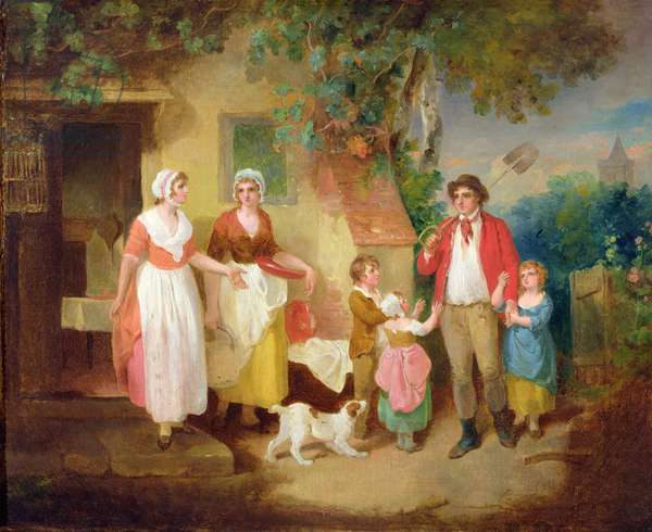 Evening, 1799 (oil on canvas)