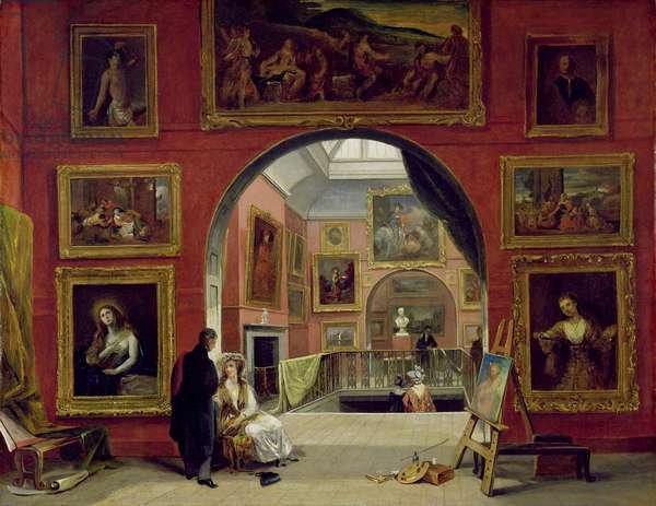 Interior of the Royal Institution, during the Old Master Exhibition, Summer 1832, 1833 (oil on canvas)