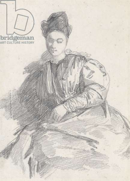 Study of a Seated Woman (graphite on paper)