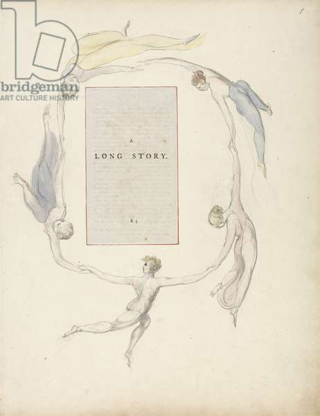 'A Long Story', design 23r from 'The Poems of Thomas Gray', 1797-1798 (w/c with pen and black ink)