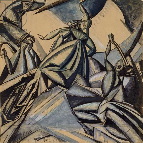 Kermesse, 1912 (gouache and w/c with pen and ink on paper)