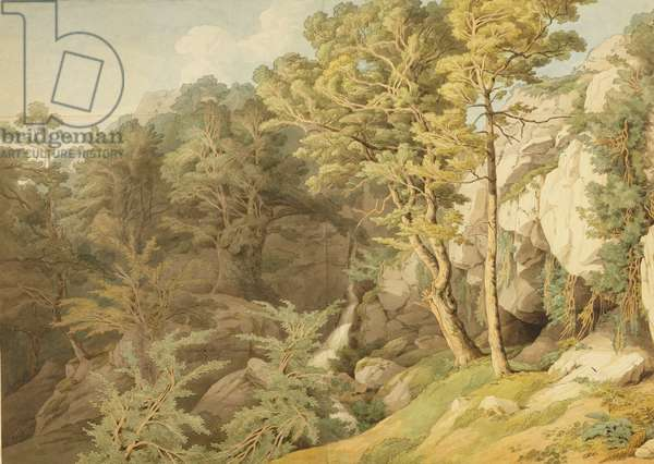 Canonteign, Devon, 1804 (pen & ink and w/c on paper)