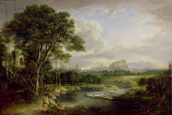 View of the City of Edinburgh, c.1822 (oil on canvas)