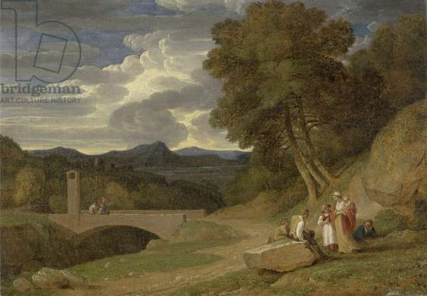 An Italianate Landscape (oil on canvas)