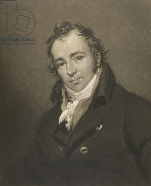 Portrait of James Ward (1769-1859) engraved by James Ward (engraving)