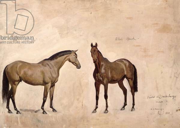 Southern Hero and Black Speck, the Property of J.V. Rank, 1940 (oil on board)